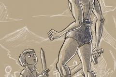 A Jarkum le entrenaron desde niño cumpliendo el mandato de la diosa IANNA.